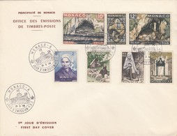 MONACO - FDC 15.5.1958 - CENTENAIRE APPARITIONS DE LOURDES - Yv N°493/498-500  /TBS - FDC