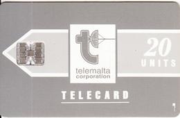 MALTA - Telecom Logo/grey(20 Units), Chip SC7, CN : C36141871, Tirage %45000, 03/92, Used - Malta