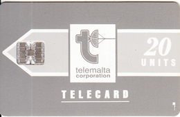 MALTA - Telecom Logo/grey(20 Units), Chip SC7, CN : C36141868, Tirage %45000, 03/92, Used - Malta