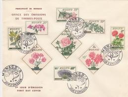 MONACO - FDC 16.5.1959 - FLEURS - Yv N°514/522  /TBS - FDC
