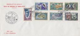 "MONACO - FDC 12.12.1962 - EXPO ""L'HOMME SOUS LA MER"" - Yv N°591/597  /TBS - FDC"