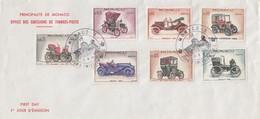 MONACO - FDC 13.6.1961 - RETROSPECTIVE AUTOMOBILE - Yv N°557-559-561-562-563-568-569  /TBS - FDC