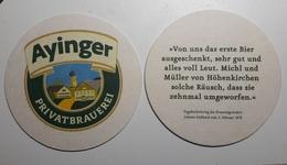 Ayinger Brewery  Beer Coaster Beer Mats Germany - Portavasos