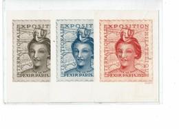 LCA7 - EXPOSITION PEXIP PARIS 1937 LA SERIE DE 3 CARTES POSTALES OBLITEREES TB - Postal Stamped Stationery