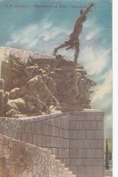 S.S. DE JUJUY. MONUMENTO AL INDIO HMAHUACA. CPA CIRCULEE YEAR 1957 PALPALA TO ENTRE RIOS - BLEUP - Argentine
