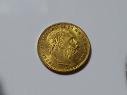 HONGRIE, Franz Joseph I, 8 Forint / 20 Francs OR 1882 SPL - Hungría