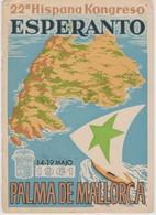 AKEO Card About 22nd Spanish Esperanto Conference In Palma De Mallorca 1961 - Hispana Esperanto Kongreso - Esperanto
