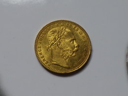 HONGRIE, Franz Joseph I, 8 Forint / 20 Francs OR 1880 SUP+ - Hungría