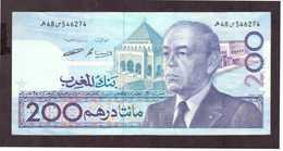 Maroc. Billet De 200 DH. SM Hassan II. Etat Bon. - Marruecos