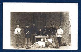 Bruges. Caserne Du Poermolen. Carte-photo. Soldats Du 4ème Régiment De Ligne.1908 - Casernes