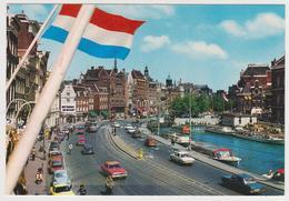1737/ AMSTERDAM Rokin.- Voitures Cars Macchine Coches Autos. Flag / Drapeau / Bandera - Non écrite. Unused. Non Scritta. - Amsterdam
