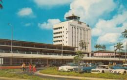 Honolulu Hawaii International Airport Terminal Building, Autos Sports Car, C1960s Vintage Postcard - Aerodromes