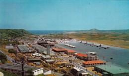 Ilha Terceira Azores Airport, Terminal Buildings And Airplanes On Tarmac, C1960s Vintage Postcard - Aerodromes