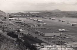 Ilha Terceira Azores Airport, Lagens Airfield, Terminal Buildings And Airplanes On Tarmac, C1950s Vintage Postcard - Aeródromos