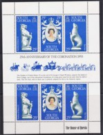 South Georgia 1978 Coronation 25th Anniversary Minisheet MNH - Falkland Islands
