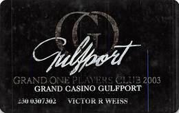 Grand Casino Gulfport 2003 Grand One Players Club Slot Card   ....[RSC]..... - Casino Cards