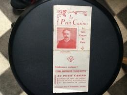 PROGRAMME LE PETIT CASINO Le Café Concert De Paris  LEILA ROMAN  Mai 1944 - Programs