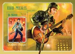 Sao Tome And Principe, 2014. [st14608] Elvis Presley (s\s+bl) - Elvis Presley