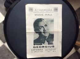 PROGRAMME ALHAMBRA  Music-Hall  GEORGIUS  Août 1944 - Programs