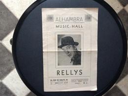 PROGRAMME ALHAMBRA  Music-Hall  RELLYS Juillet 1944 - Programs