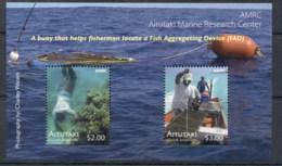 Aitutaki 2011 Marine Life Fish Attractors MS MUH - Aitutaki