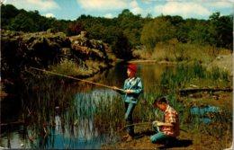 Fishing The Stream Mississippi 1957 - Fishing