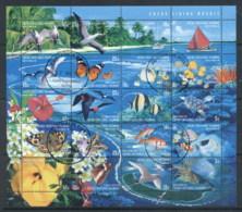 Cocos Keeling Is 1999 Marine Life A Living Mosaic Sheetlet CTO - Cocos (Keeling) Islands