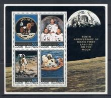 Cook Is 1979 Apollo 11 Moon Landing 10th Anniv. MS MUH - Cook Islands