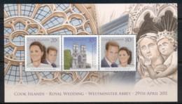 Cook Is 2011 Royal Wedding William & Kate MS MUH - Cook Islands