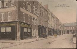 CPA France - Longwy Haut - Grande Rue (Partie Haute) - Pharmacie Statu - Bijouterie J. Meyer (Ed. V. Krémer, Nº2) Animée - Longwy