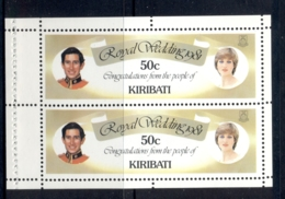 Kiribati 1981 Royal Wedding Charles & Diana 50c Booklet Pane MUH - Kiribati (1979-...)