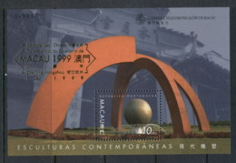 Macau 1999 Sculpture Opt Macau '99 MS MUH - Used Stamps