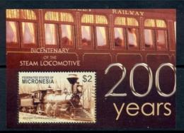 Micronesia 2004 200 Years Of Steam Locomotives MS MUH - Micronesia