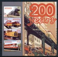 Micronesia 2004 200 Years Of Steam Locomotives Sheetlet MUH - Micronesia