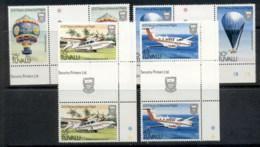 Tuvalu 1983 Manned Flight Gutter Prs MUH - Tuvalu