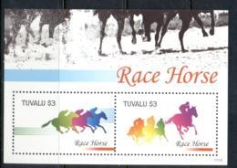 Tuvalu 2011 Horses, Race Horses MS MUH - Tuvalu
