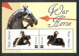 Tuvalu 2011 Horses, War Horses MS MUH - Tuvalu