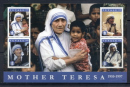 Tuvalu 2011 Mother Theresa (faults, Cnr. Crease) MS MUH - Tuvalu