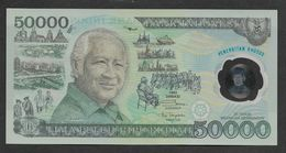 Indonesia 50000 50,000 Rupiah Polymer Commemorative 1993 UNC - Indonesia