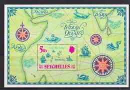 Seychelles 1971 'On The Map' Minisheet MH - Seychelles (...-1976)