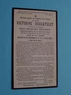 DP Victorine DUCHATELET (Jean-Baptiste Ségard ) Déc. à ESTAIMBOURG 22 Mai 1916 Dans Sa 76 An ( Zie Foto's ) ! - Décès