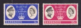 Barbados 1966 Royal Visit Set Of 2 MLH - Barbados (...-1966)