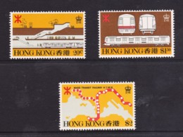 Hong Kong 1979 Mass Transit Railway - Train Set Of 3 MNH - Hong Kong (...-1997)