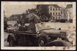 AK NS Propaganda Karte 3.Reich Hitler Im Auto In Saarbrücken  (8375 - Militaria