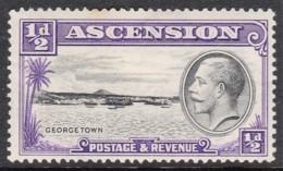 Ascension 1934 Georgetown 1/2d MH - Ascension (Ile De L')