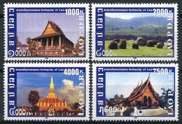 336 - Laos 2009  YT 1715-18 ; Mi# 2104-07 **  MNH  Historic Sites - Laos