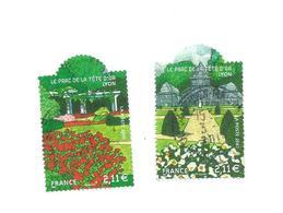 4017/18  Jardins De France   Beaux Cachets(clascamerou7) - France