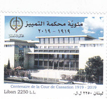 Lebanon-Liban New Issue 2019, 100th Year Of Cassation Court 1v.cpl.set MNH- SKRILL PAYMENT ONLY - Lebanon