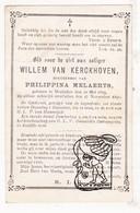 DP Willem Van Kerckhoven ° Mechelen 1819 † 1891 X Philippina Melaerts - Imágenes Religiosas