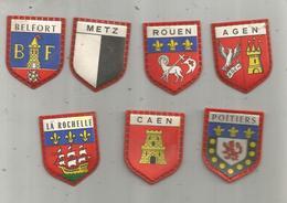 écusson  Villes Françaises , Blasons ,  France Lait ,  Régilait ,  QUIICK LAIT ,  LOT DE 7 ECUSSONS - Autres Collections